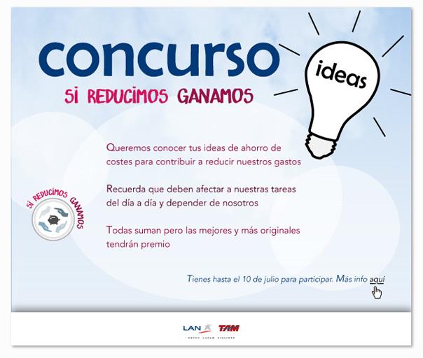 Campaña reducción de costes. Creación de logotipo, cartelería, emails...